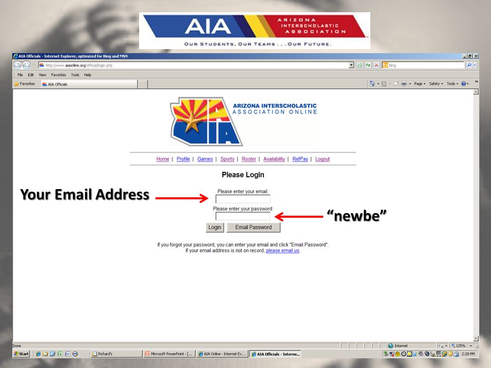 newbe Your Email Address