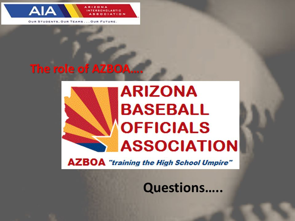 Questions….. The role of AZBOA….