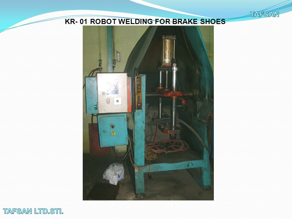 KR- 02 ROBOT WELDING FOR BRAKE SHOES