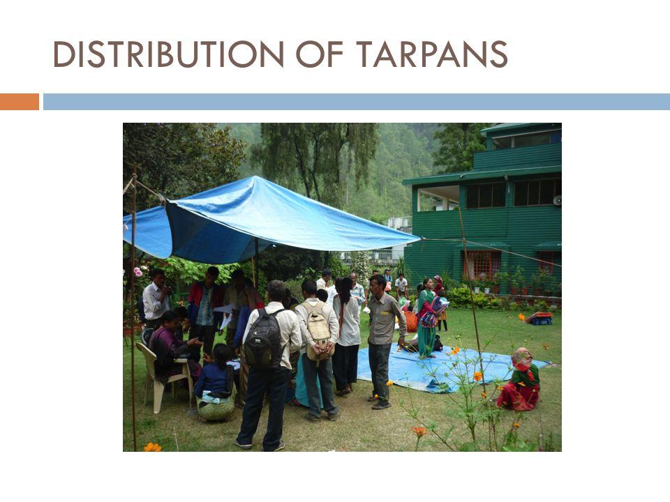 DISTRIBUTION OF TARPANS