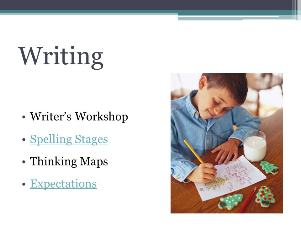 Writing Writers Workshop Spelling Stages Thinking Maps Expectations