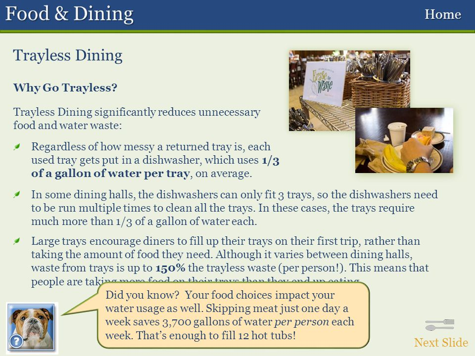 Trayless Dining Why Go Trayless.