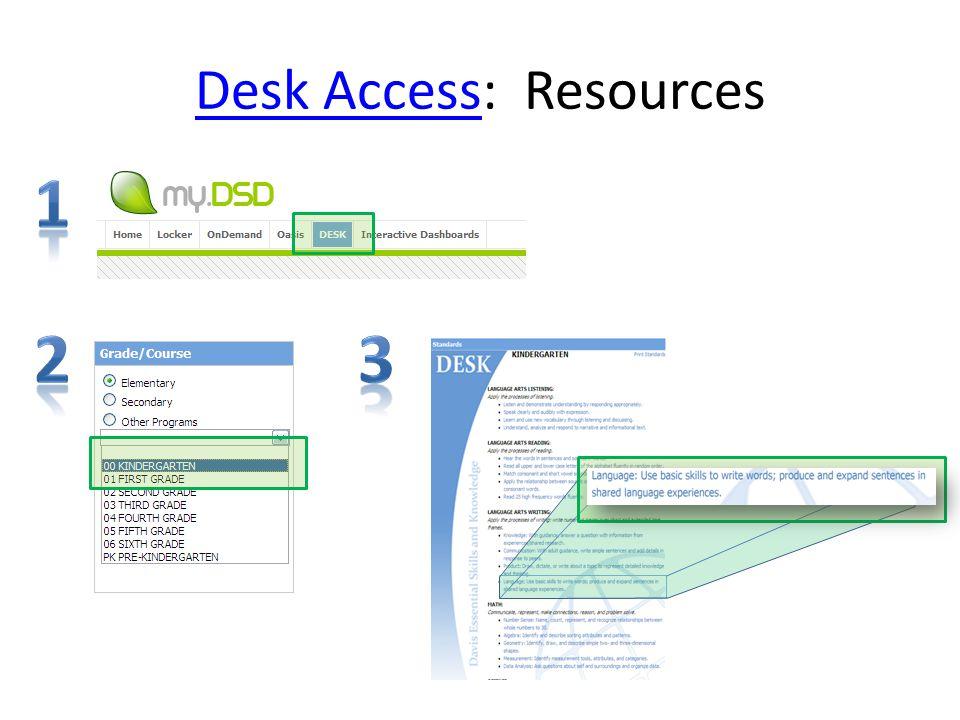 Desk AccessDesk Access: Resources