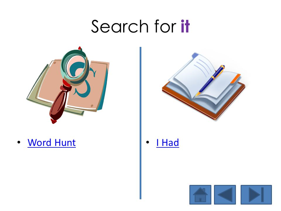 Search for it Word Hunt I Had