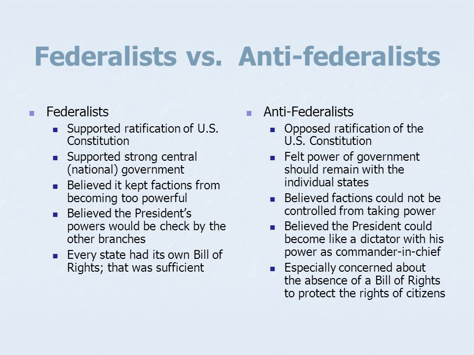 Federalism Distribution of the powers of government between a central (federal) government and the regional (states) governments. State laws cannot in