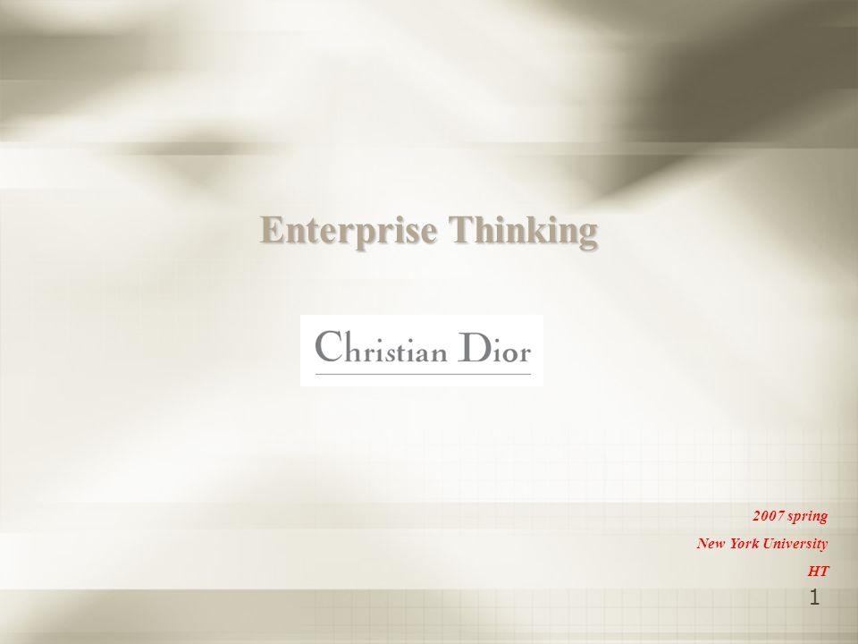 1 Enterprise Thinking 2007 spring New York University HT