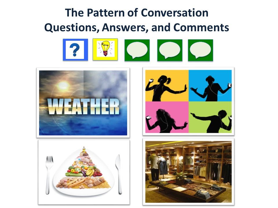 The Pattern of Conversation Questions, Answers, and Comments