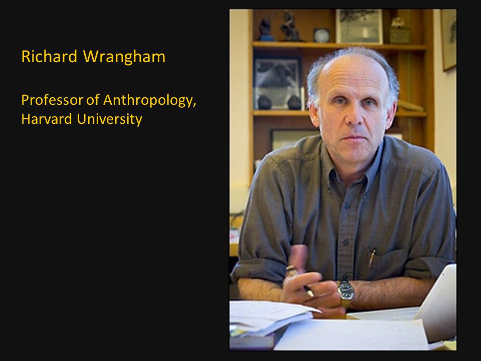 Richard Wrangham Professor of Anthropology, Harvard University