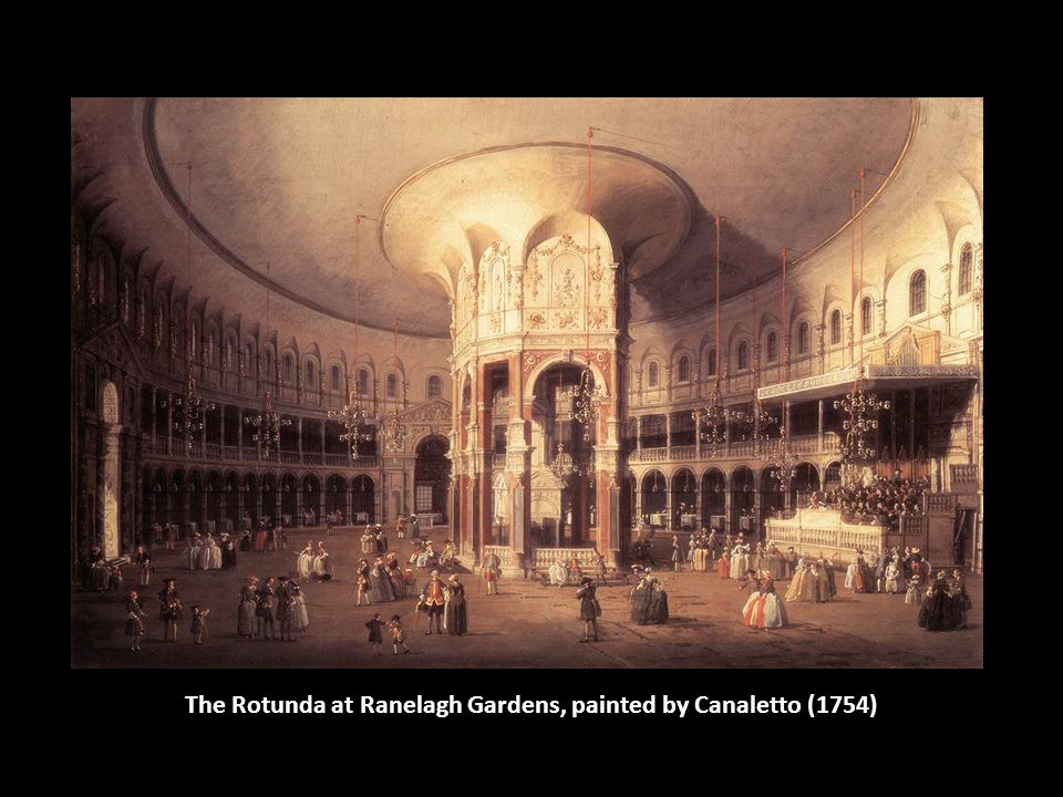 The Rotunda at Ranelagh Gardens, painted by Canaletto (1754)