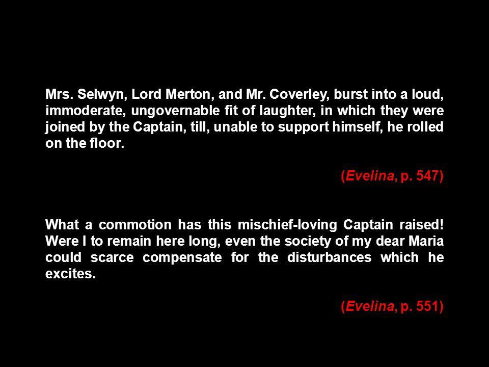 Mrs. Selwyn, Lord Merton, and Mr.