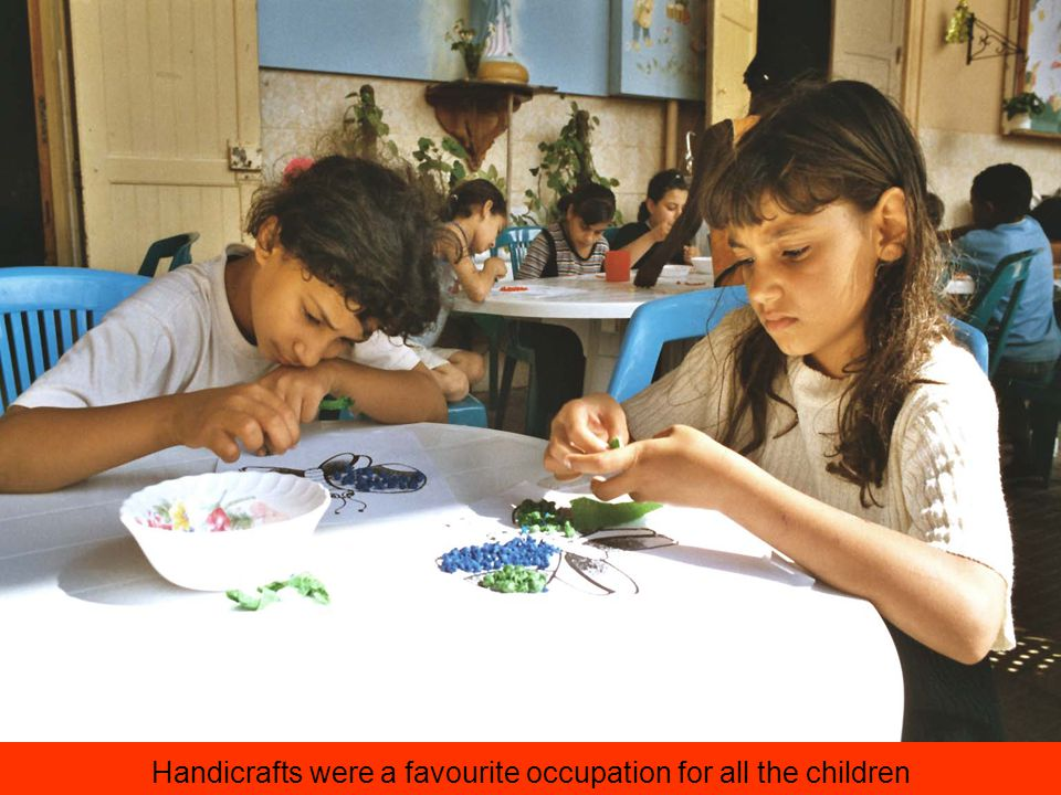Handicrafts were a favourite occupation for all the children