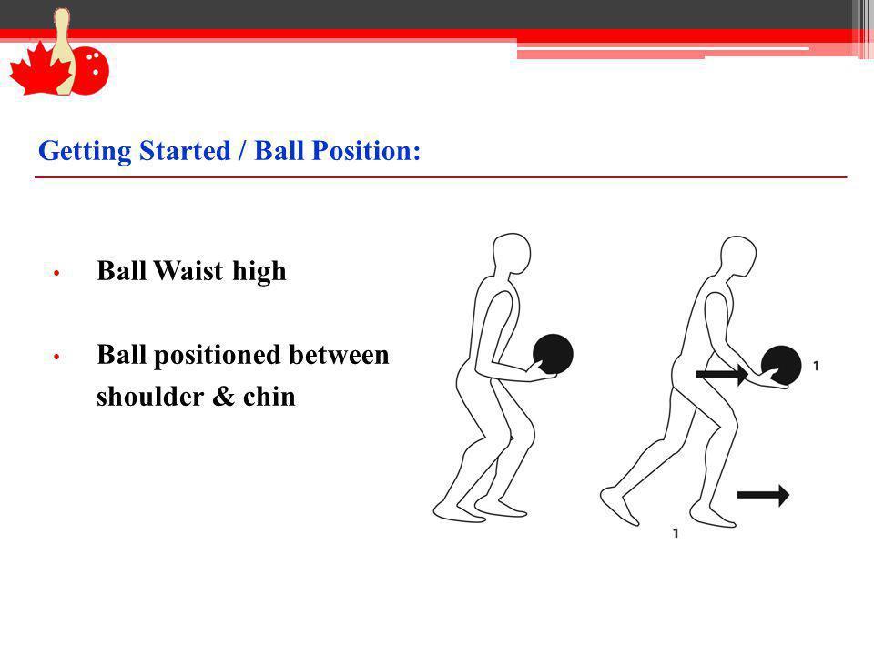 Getting Started / Ball Position: Ball Waist high Ball positioned between shoulder & chin