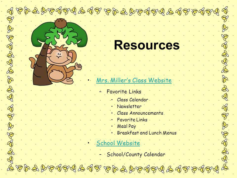 Resources Mrs.