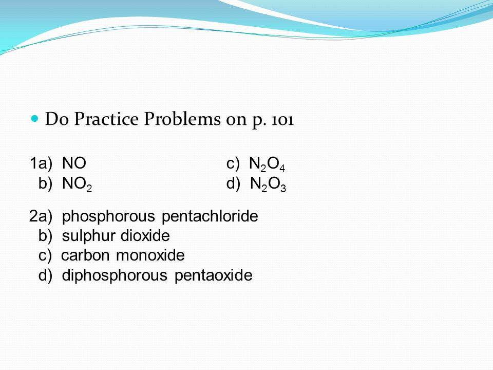 Do Practice Problems on p.