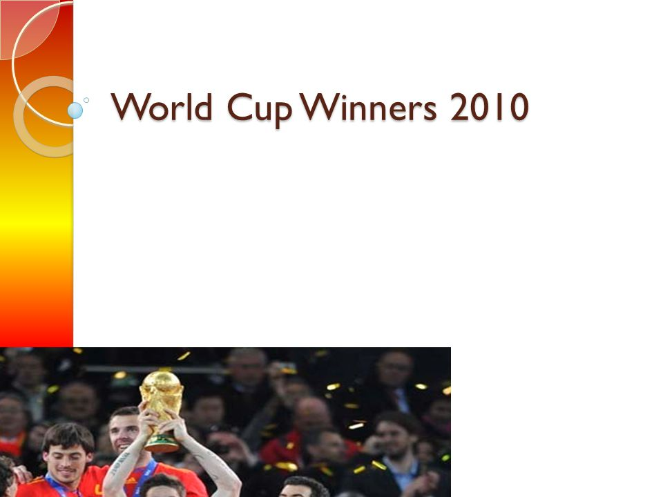 World Cup Winners 2010