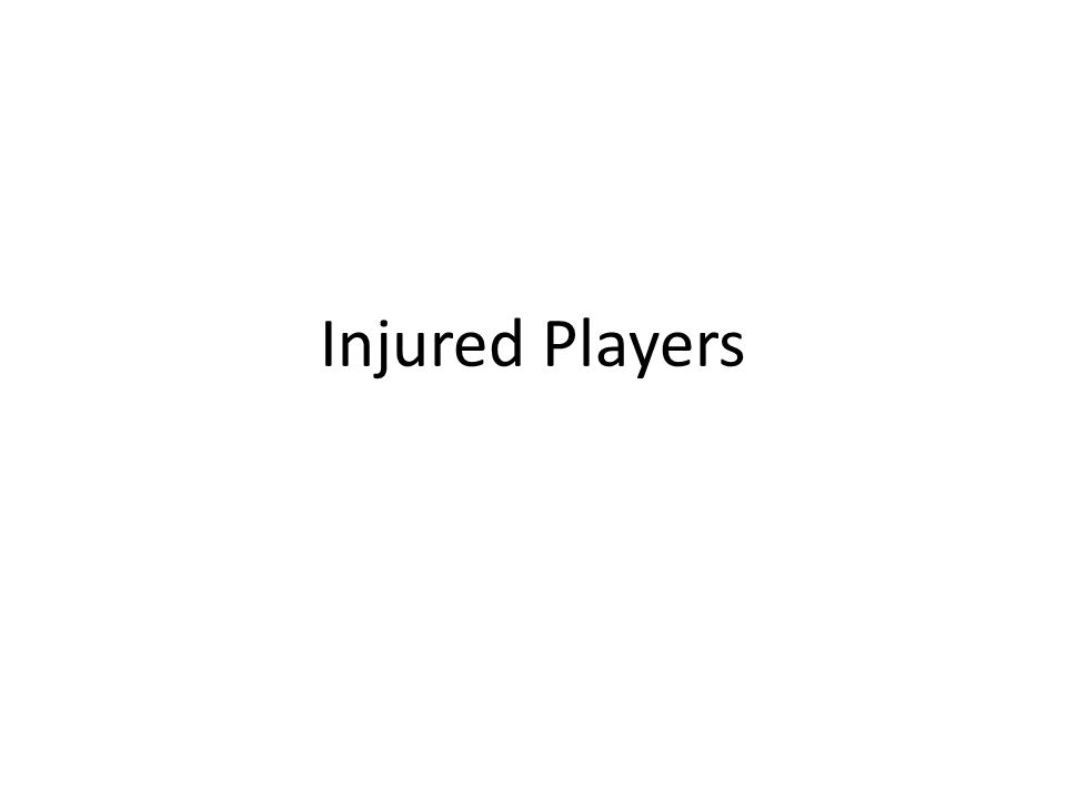 Injured Players
