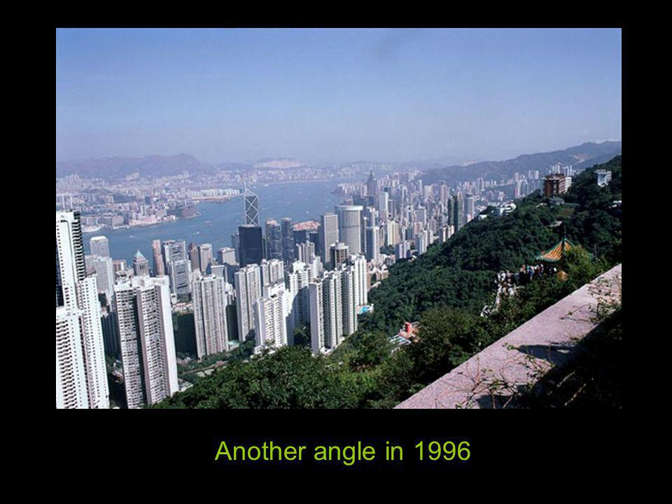 View of Harbor and Kowloon Peninsula from the Peak in 1996