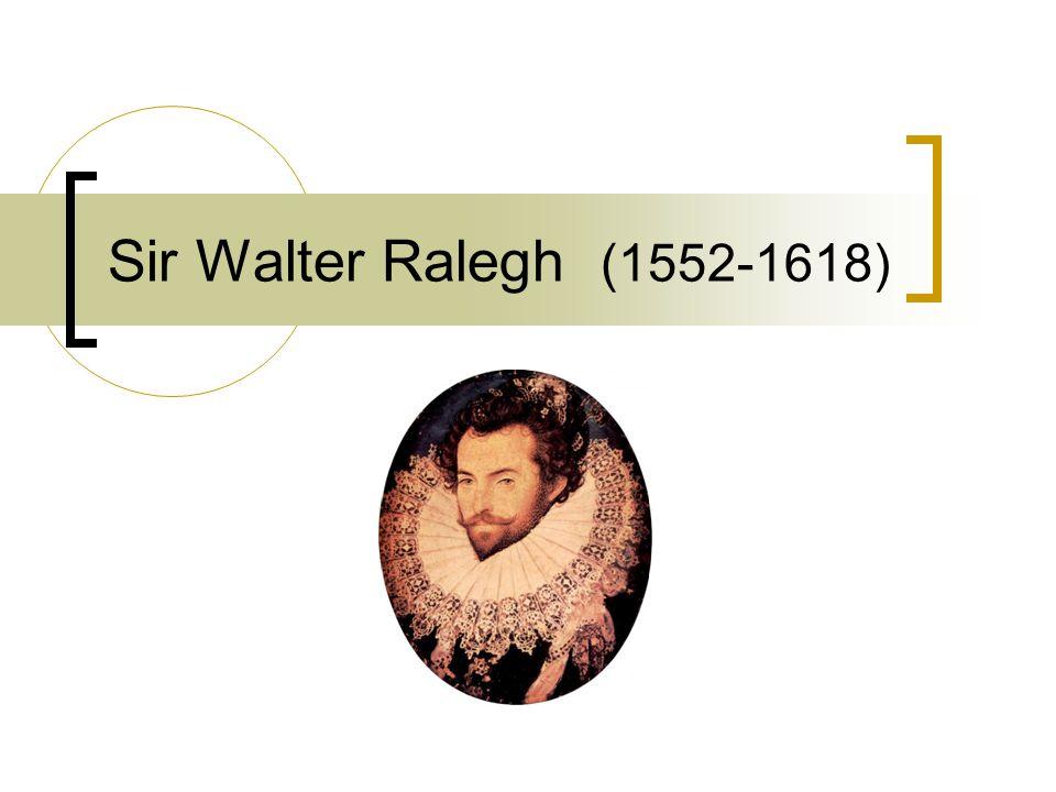 Sir Walter Ralegh Career poet courtier soldier privateer explorer scientist historian attorney