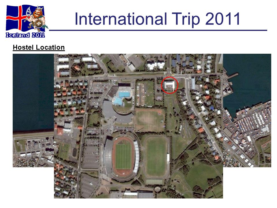 International Trip 2011 Hostel Location