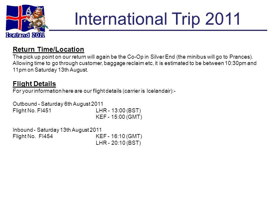 International Trip 2011 ROOM No.21ROOM No.