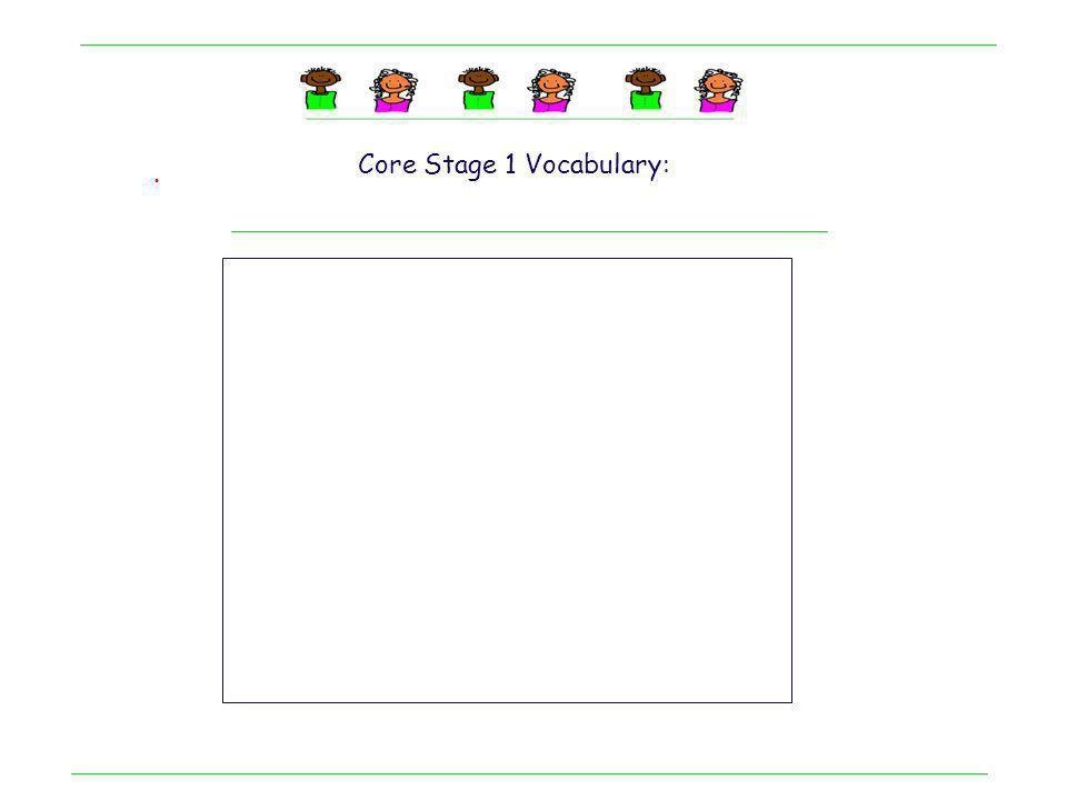. Core Stage 1 Vocabulary: