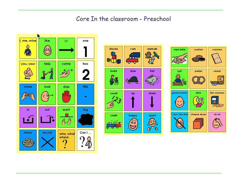. Core In the classroom - Preschool