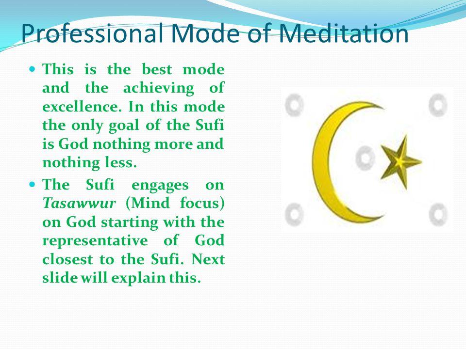 Amateur Mode of Meditation This mode is centre toward awakening spiritual powers and energies.