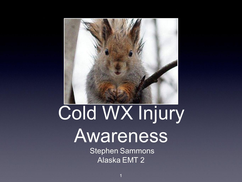Cold WX Injury Awareness Stephen Sammons Alaska EMT 2 1