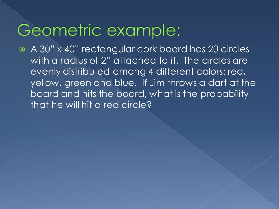 A 30 x 40 rectangular cork board has 20 circles with a radius of 2 attached to it.