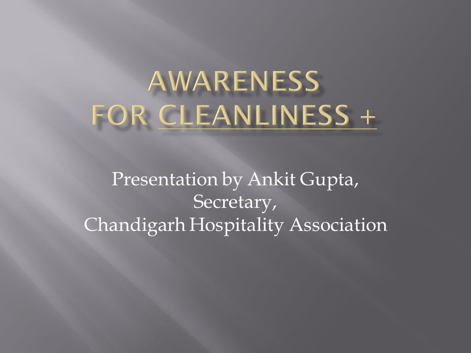 Presentation by Ankit Gupta, Secretary, Chandigarh Hospitality Association