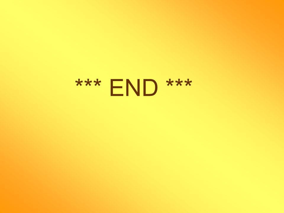 *** END ***