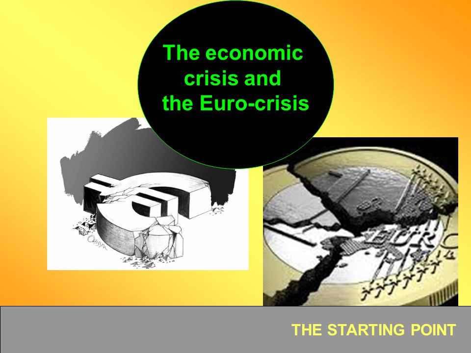 The economic crisis and the Euro-crisis