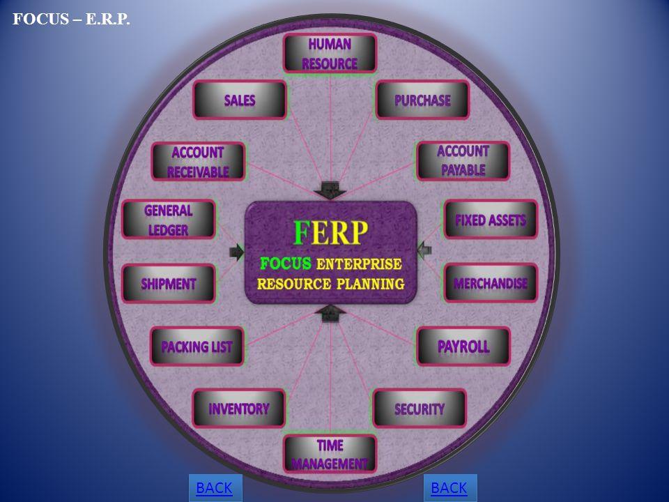 BACK FOCUS – E.R.P.