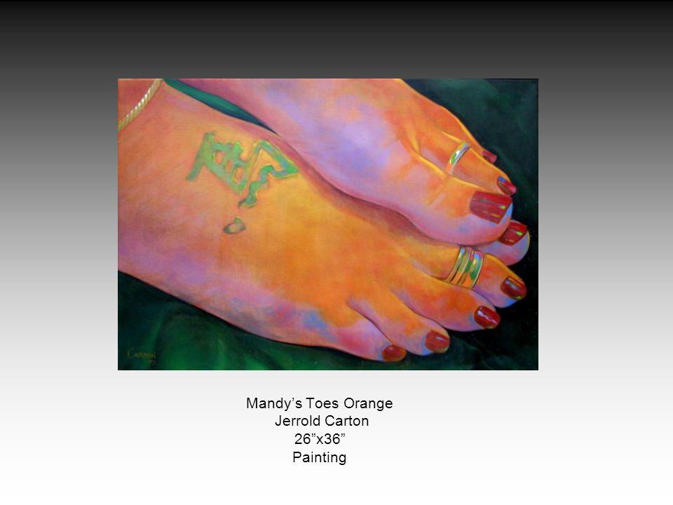 Mandys Toes Orange Jerrold Carton 26x36 Painting