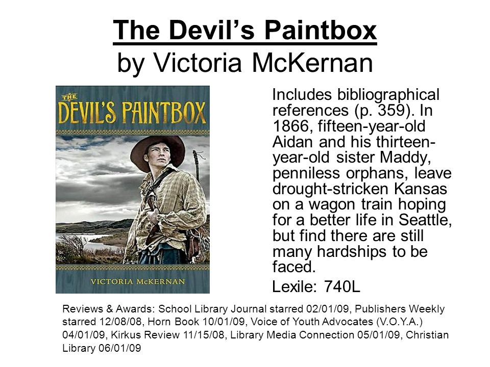 The Devils Paintbox by Victoria McKernan Includes bibliographical references (p.