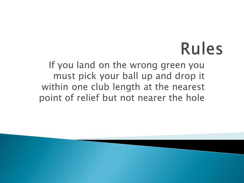 You must not touch the ground in your line of putt except that you may Repair a ball mark or an old plug Lift the ball for cleaning Remove a loose imp