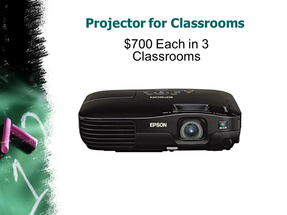 Projector for Classrooms $700 Each in 3 Classrooms