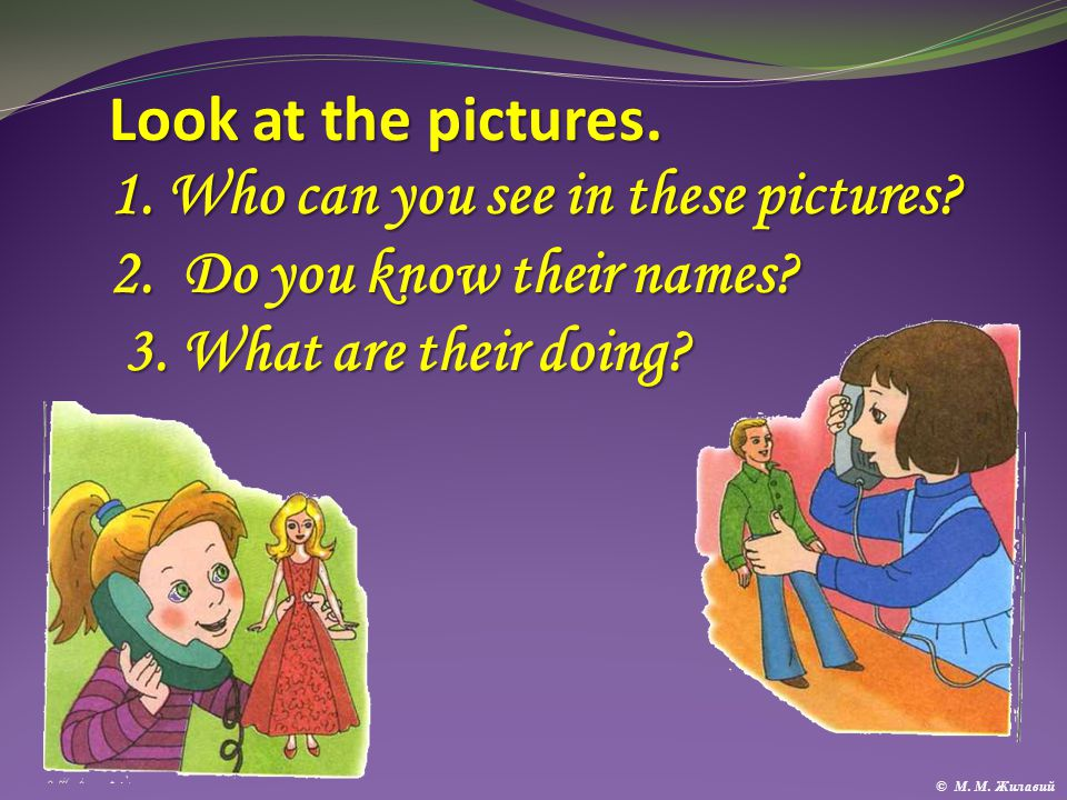 Look at the pictures.1. Who can you see in these pictures.