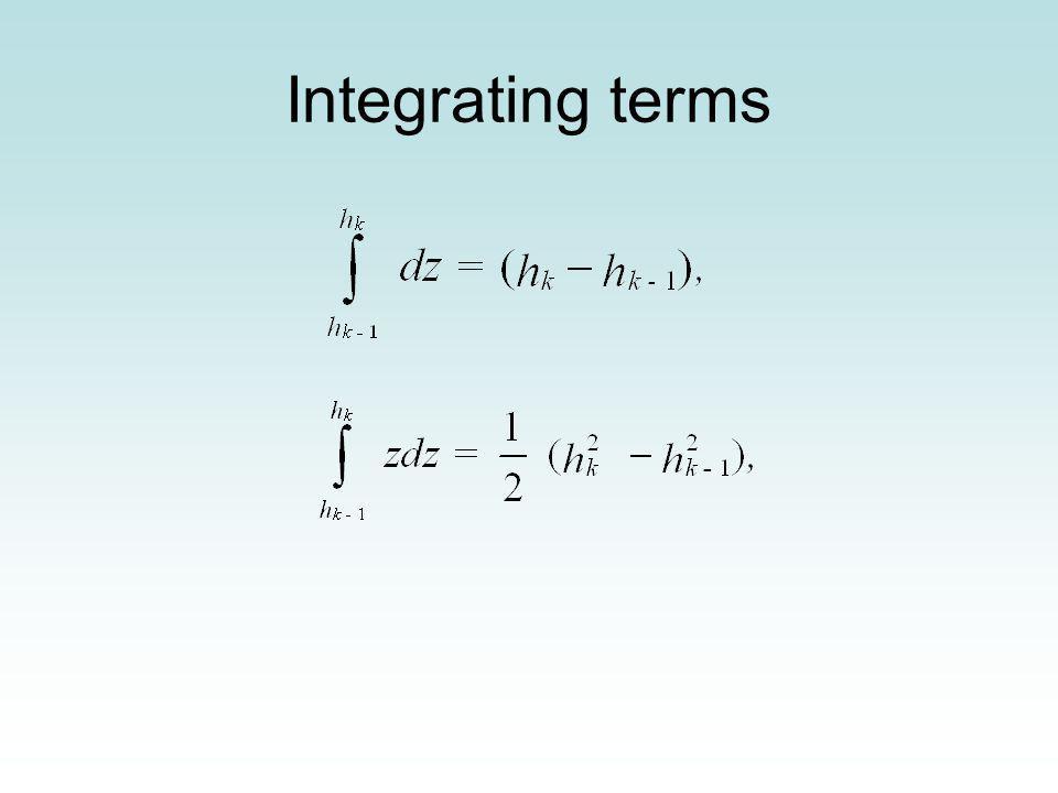 Integrating terms