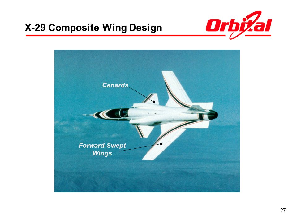 27 X-29 Composite Wing Design Forward-Swept Wings Canards