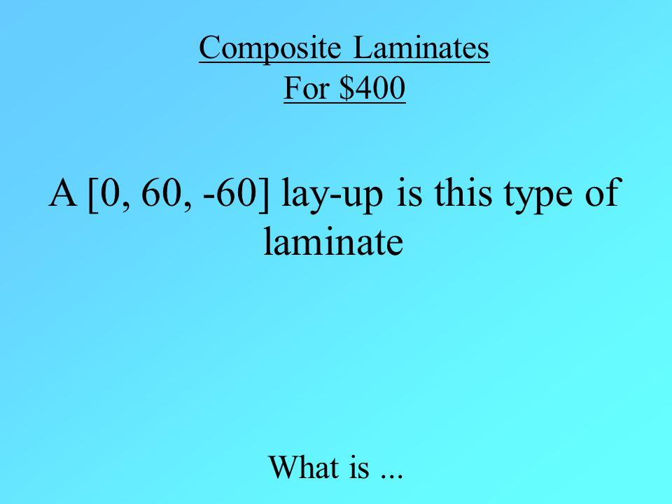 Antisymmetric Laminate Back to Game Example: [+θ /- θ /+ θ /- θ]