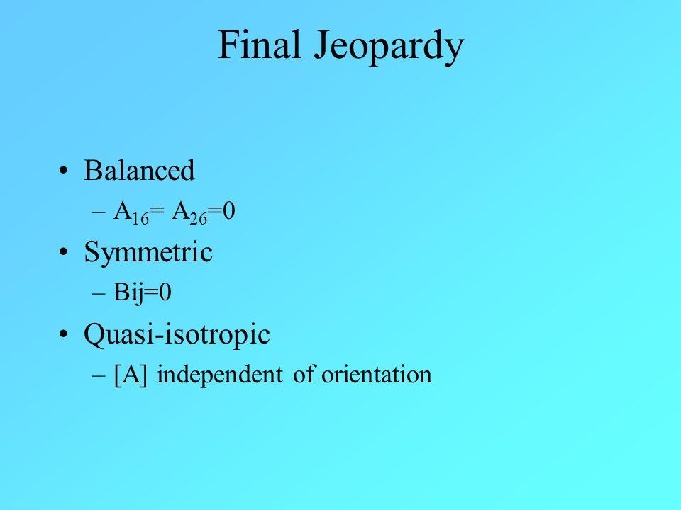 Back to Game 1.Maximum Stress Theory 2.Maximum Strain Theory 3.Tsai-Wu Failure Theory