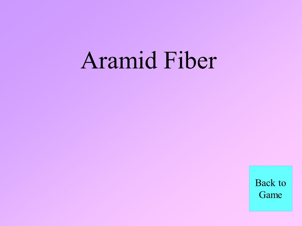 Aramid Fiber Back to Game