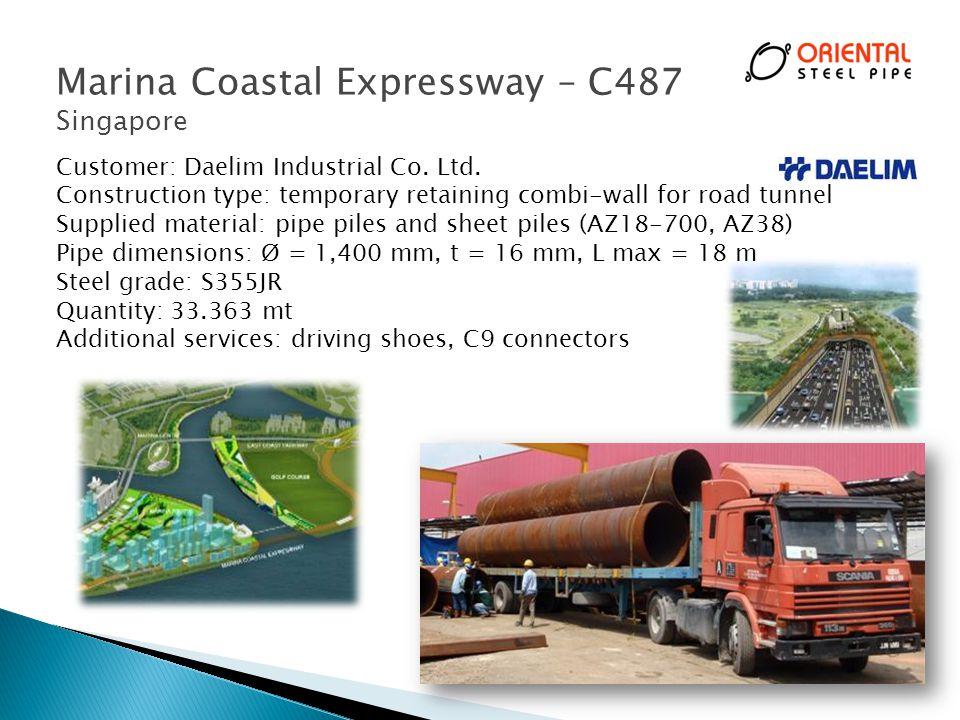 Marina Coastal Expressway – C487 Singapore 23 Customer: Daelim Industrial Co.