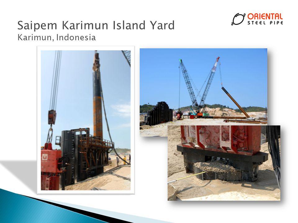 Saipem Karimun Island Yard Karimun, Indonesia 29