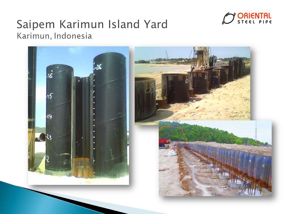 Saipem Karimun Island Yard Karimun, Indonesia 30