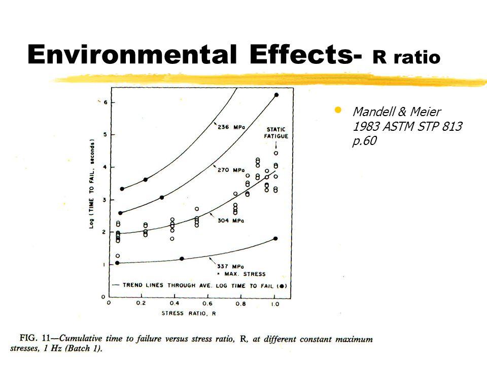 Environmental Effects- R ratio Mandell & Meier 1983 ASTM STP 813 p.60