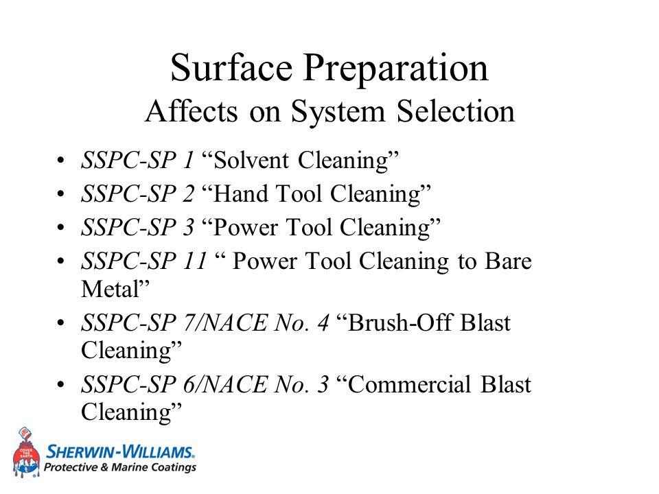Surface Preparation Affects on System Selection SSPC-SP 10/NACE No.