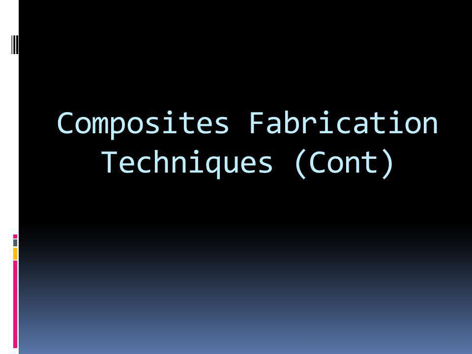 Composites Fabrication Techniques (Cont)