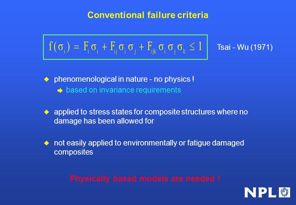 Conventional failure criteria u phenomenological in nature - no physics .